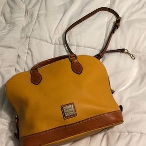 Mustard yellow & Tan Dooney & Burke Satchel